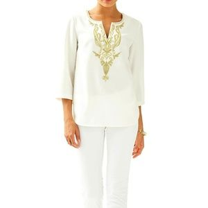 Lilly Pulitzer Resort White Dallas Tunic Shirt